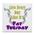 Fat Tuesday Tile Coaster