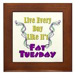 Fat Tuesday Framed Tile