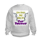 Fat Tuesday Kids Sweatshirt