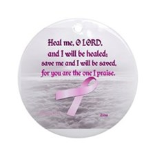 Pink Ribbon Healing 1 Round Ornament