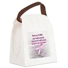 Pink Ribbon Healing 1 Canvas Lunch Bag