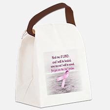 Pink Ribbon Healing 1 Canvas Lunch Bag