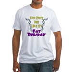 Fat Tuesday Fitted T-Shirt
