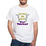 Fat Tuesday White T-Shirt