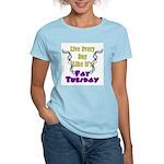 Fat Tuesday Women's Pink T-Shirt