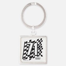 flagtag71 Square Keychain
