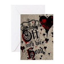 off-with-her-head_12x18 Greeting Card