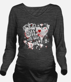 off-with-her-head_wh Long Sleeve Maternity T-Shirt