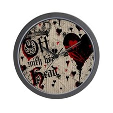 off-with-her-head_9x12 Wall Clock