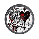 Alice in wonderland Wall Clocks