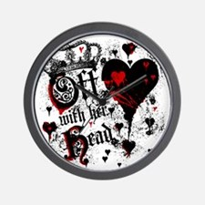off-with-her-head_bl Wall Clock