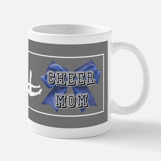 Cheer Mom Blue Bow Mugs