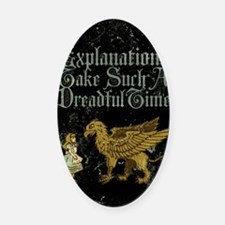 alice-explanations_12x18 Oval Car Magnet