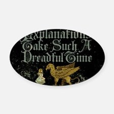 alice-explanations_9x12 Oval Car Magnet