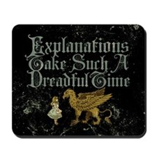 alice-explanations_9x12 Mousepad