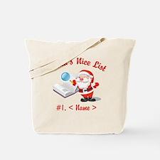 Personalized Santa's Nice List Tote Bag