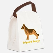 Tripawd Power Three Legged GSD 10 Canvas Lunch Bag