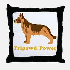 Tripawd Power Three Legged GSD 10x10  Throw Pillow