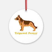 Tripawd Power Three Legged GSD 10x1 Round Ornament