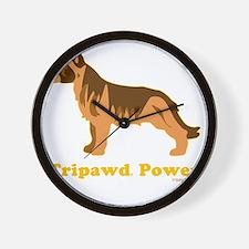 Tripawd Power Three Legged GSD 10x10 Da Wall Clock