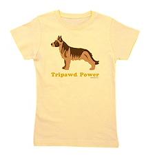 Tripawd Power Three Legged GSD 10x10 Da Girl's Tee