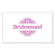 Bridesmaid in hot pink Decal