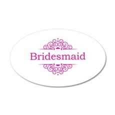 Bridesmaid in hot pink Wall Sticker