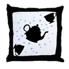 tea-party_bl-sm Throw Pillow
