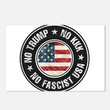 No Trump No KKK No Fascist USA Postcards (Package