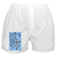 alice-not-myself-today_12x18 Boxer Shorts