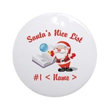 Personalized Santa's Nice List Ornament (Round)