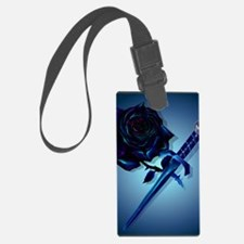 The Black Rose and Dagger Poster Luggage Tag