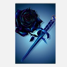 The Black Rose and Dagger Postcards (Package of 8)