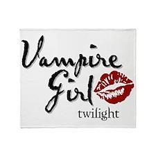 vampire girl Throw Blanket