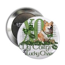 "Corgi_Lucky_Charm_Trans2 2.25"" Button"