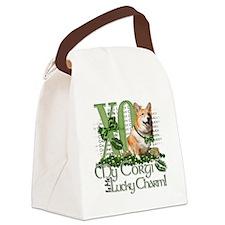 Corgi_Lucky_Charm_Trans2 Canvas Lunch Bag