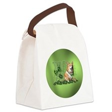 Corgi_Lucky_Charm_Circle Canvas Lunch Bag