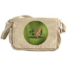 Corgi_Lucky_Charm_Circle Messenger Bag