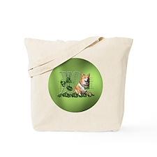 Corgi_Lucky_Charm_Circle Tote Bag