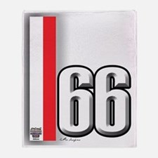 66redwhite Throw Blanket