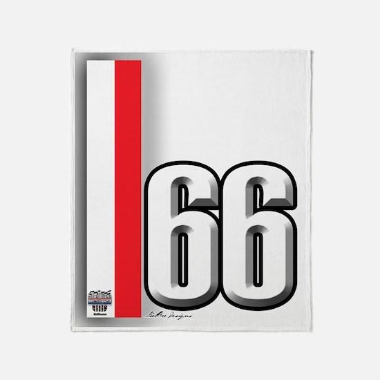 66redwhite Throw Blanket
