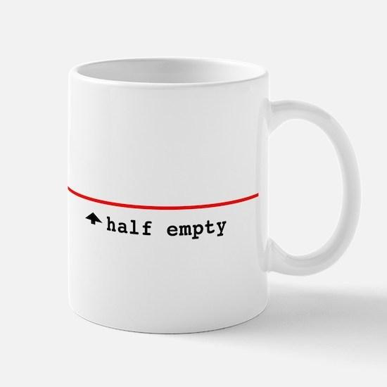 Half Full/ Half Empty Mug