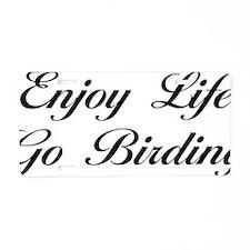 birdingScB Aluminum License Plate
