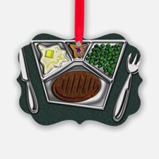11-TV Dinner Tray Cooked Frozen M Ornament