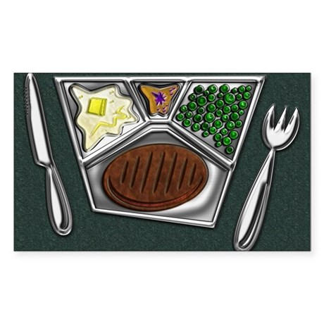 11-TV Dinner Tray Cooked Froze Sticker (Rectangle)