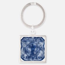 DAUGHTER LAW Square Keychain