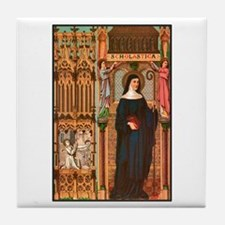 St. Scholastica Tile Coaster