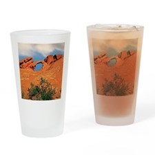 Valley of Fire Arch Rock Postcards, Drinking Glass