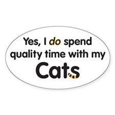 Quality Cat Time Oval Decal