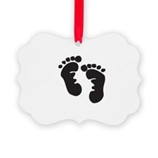 baby feet transparent Ornament